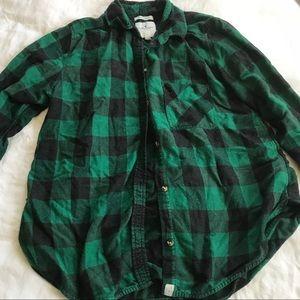 American Eagle Green Flannel